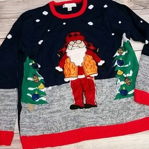 Jolly Sweaters Ugly Christmas sweater XL hunter